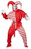 Costume Carnevale da Jolly Demoniaco giullare medievale - Uomo Taglia Medio