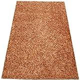 Orientteppich Schaggy handgeknüpft Langflor ca. 150x100 Beige/Gold ETFA