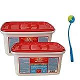 MERA Dog 2 x 2 kg Welpenmilch Zusatznahrung Aufzuchtmilch Futter + Ballschleuder