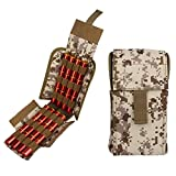Kosibate Shotgun Shell Holder,for Airsoft Remington 870 12G 12 Gauge/20G 20 Gauge Tactical Molle Velcro Camo Design