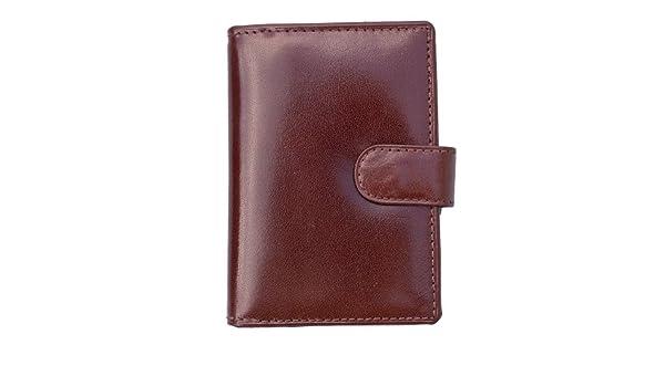 66f8553dcd421 Prime Hide Luxus Braun Leder Kreditkarte Halter Innentasche mit  Reißverschluss  Amazon.de  Schuhe   Handtaschen