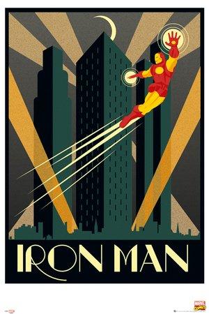 GB eye - Póster de Iron Man de Marvel (61 x 91,5 cm), diseño retro