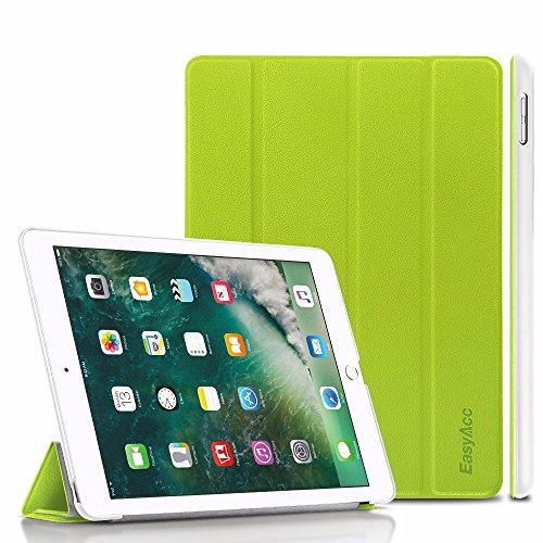 iPad 9.7 Hülle 2017, EasyAcc Ultra Dünn Smart Cover mit Automatischem Schlaf Funktion und Standfunktion - Hochwertiges PU Leder Hülle für iPad 9.7 Zoll 2017 Grün