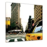 Bilderdepot24 Kunstdruck - Yellow Cab - New York USA - Bild auf Leinwand - 80 x 80 cm - Leinwandbilder - Bilder als Leinwanddruck - Wandbild Städte & Kulturen - Amerika - USA - Taxi in New York