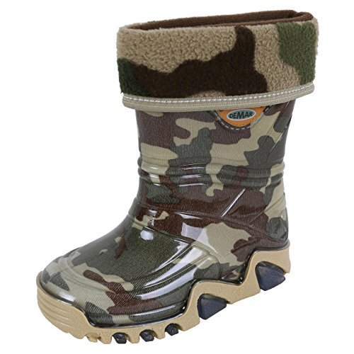Demar Kids, Girls, Boys Khaki/Moro, PVC, Wellies, Wellington, Rain Boots