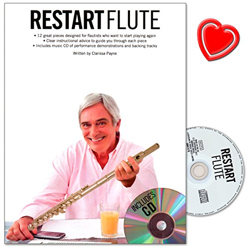 Clarissa Payne Restart Flute Instruction Book with CD and Colourful on