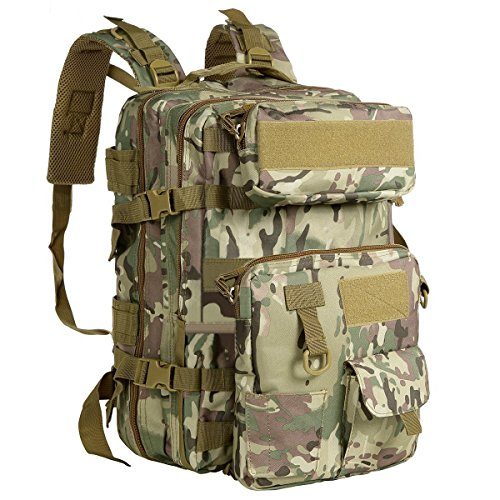 G4free 40l tattico zaino resistente all' acqua army molle zaino militare zaino staccabile con sacchetto per outdoor trekking campeggio trekking caccia, cp camouflage