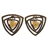 Maayra Pretty Gold Designer Party Clip On Earrings best price on Amazon @ Rs. 600