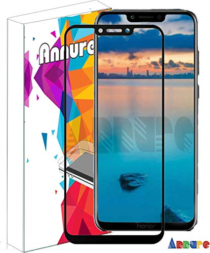 Annure Shatterproof Tempered Glass Screen Protector for Huawei Honor Play (Black)