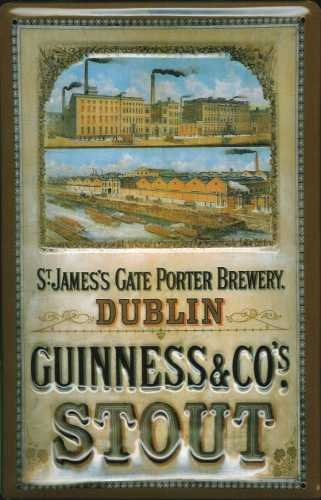 Blechschild Nostalgieschild - 20 x 30 cm schwere Qualität: Guinness St. James Gate