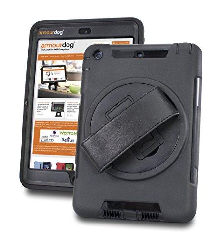 Armourdog® Funda resistente con agarre 360 y correa de mano y pantalla de vidrio templado para Apple iPad Mini 5