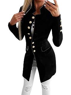 537923e8fd50 Tomwell Femme Blazer Automne Causal Double Breasted Simple Boucle OL à  Manches Longues Veste Blazer Slim