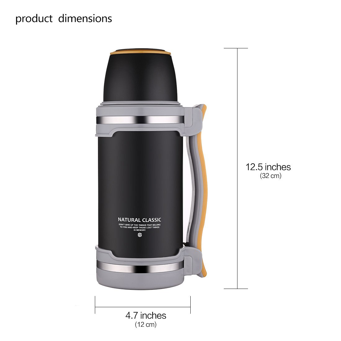 ONEISALL-Stainless-Steel-Vacuum-FlaskVacuum-Insulated-BeverageTravel-Kettle-for-HikingCampingExercising