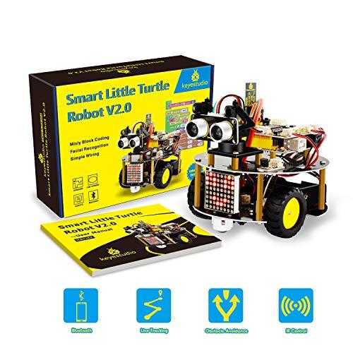 KEYESTUDIO per Arduino Starter Kit Progetto Robot Auto Car con Tutorial, Sensore a Ultrasuoni, Modulo Bluetooth Lultimo Gioco...