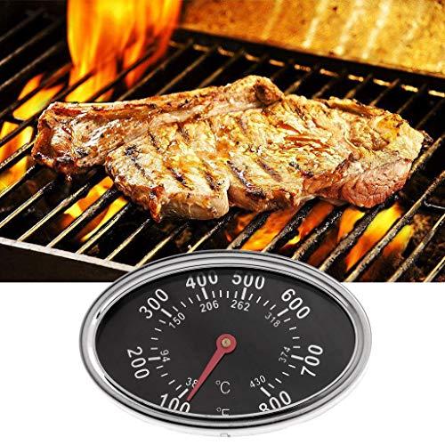 Termómetro de cocina Yiwann, 800 °F, ovalado, para barbacoa, parrilla, ahumador, termómetro, indicador...