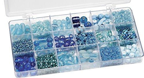 KnorrPrandell 216050340 Sortimentsbox Glasperlen hellblau