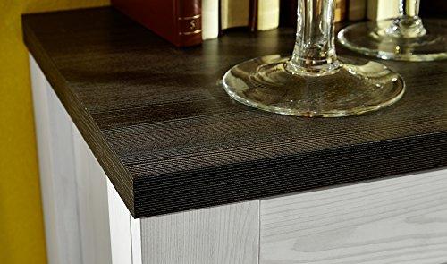 Peter ANLL711022 Highboard Sideboard Kommode Schrank Anrichte Mehrzweckschrank, Holz, weiß, 40.0 x 178.0 x 130.0 cm - 3