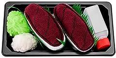 Idea Regalo - Sushi Socks Box - 1 paio di CALZINI SUSHI: Nigiri Tonno, Idea REGALO Divertente, Calze fantasia di COTONE|Dimensioni: EU 41-46, Certificato OEKO-TEX, Prodotto in Europa