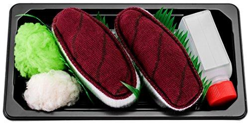 Sushi Socken 1 Paar Thunfisch EU-Größen: 36-40, in Europa hergestellt, ideal als Geschenk! Originelle Socken bester Qualität, mit Öko-Tex-Zertifikat.