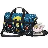DEZIRO Weekender Bag Canvas Duffle Bag für Reisen, Winterkatzen sitzend auf dem Dach und fallender...