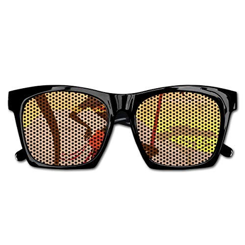 EELKKO Mesh Sunglasses Sports Polarized, Savannah Lady Like Amazon Girl Standing for Hunt Safari Style Retro Folk Print,Fun Props Party Favors Gift Unisex