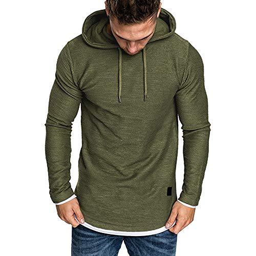 Kapuzenpullover Herren Große Größe Sweatshirt Hoodies Männer Langarmshirt Slim Fit Pullover...