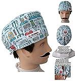 Gorros Quirofano INSTRUMENTAL MEDICO para Pelo Corto Absorbente frontal y ajustable Personalizado con tu nombre en opciones