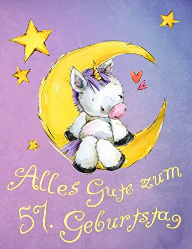 eburtstag: Niedliches Einhorn auf dem Mond geburtstagsbuch, das als Tagebuch oder Notizbuch verwendet werden kann. Besser als eine Geburtstagskarte! ()