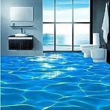 Weaeo Benutzerdefinierte Wandbild Tapete 3D Meer Welle Texturierte Badezimmer Pvc Selbstklebende Wasserdichte Boden Tapete Wandverkleidung Roll Home Decor-350X250Cm