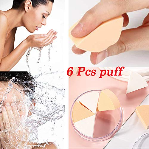 Puff Femme 6PCS Base de Maquillage éponge Blender Powder Puff Smooth PowerFul-LOT Make Up For Foundation Pas cher