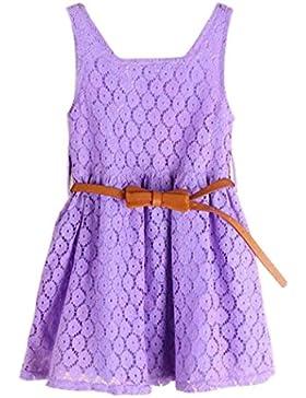 Koly Vestido del cordón del verano de la niña del niño, vestido de la muchacha Vestido de la princesa Vestido...