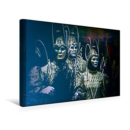 Premium Textil-Leinwand 45 cm x 30 cm quer, Der Herrscher und sein Gefolge   Wandbild, Bild auf Keilrahmen, Fertigbild auf echter Leinwand, (Herrscher Kostüm)