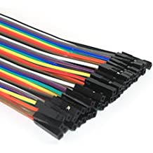 REES52 Dupont Breadboard Jumper Wires - Female to Female - 40 Pin - 20cm