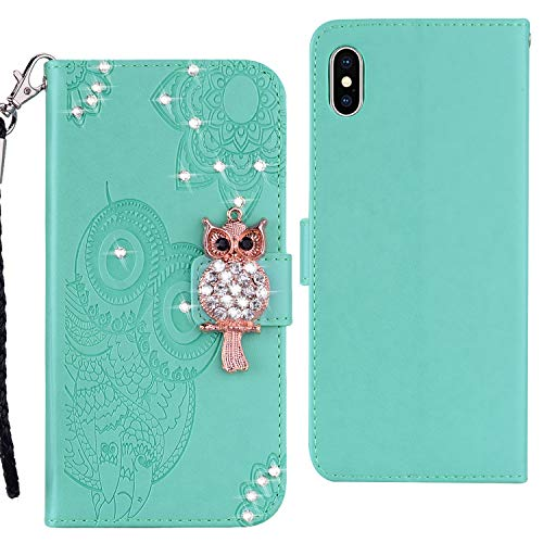 Qkldm Coque PU iPhone XS Max 6.5 Pouces Case Wallet Phone Stand Cover with Credit Card Slots Flip Protective Case for iPhone XS Max 6.5 Pouces 2018 (*/131) (1) par  Qkldm