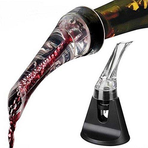 Cooko olecranon decantatore,aeratore per vino, aiuta a versare il vino,aeratore rapido,decantatore di vino elegante e pratico,accessorio per il vino per escursionismo,campeggi o feste