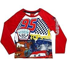 Disney Cars 3 Kollektion 2017 Langarmshirt 92 98 104 110 116 122 128 Shirt Lightning McQueen Rot-Weiß