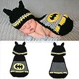 Batman, Newborn Baby Mädchen Boy/crochet Knit Kostüm Foto Fotografie Prop Hüte Outfits