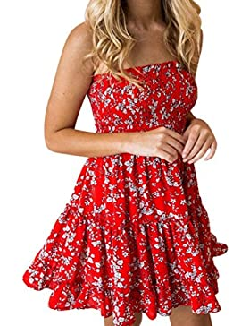 Vestidos de Mujer, ASHOP Vestido Verano 2018 Sin Mangas Casual Ajustados T-Shirt Vestido Coctel Fiesta Mini Dress...
