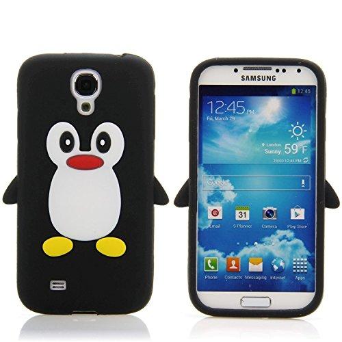 Handy Lux® Schutz Hülle Silikon Case Cover Etui Pinguin für Apple iPhone 5 / 5S / SE - Blau Schwarz