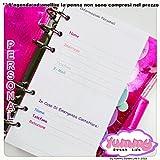 Personal - REFILL handmade per agende planner 1 FOGLIO Informazioni personali Color