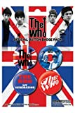 Used, THE WHO - UNION JACK - BADGE PACK - PACK OF 4 X 38MM for sale  Delivered anywhere in UK