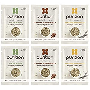 Vegan Protein Shake Trial Box (6 x 40g) Ideal for weight loss & post exercise recovery - 100% natural meal replacement - Dairy free breakfast smoothie for men & women - Drink or mix into yogurt