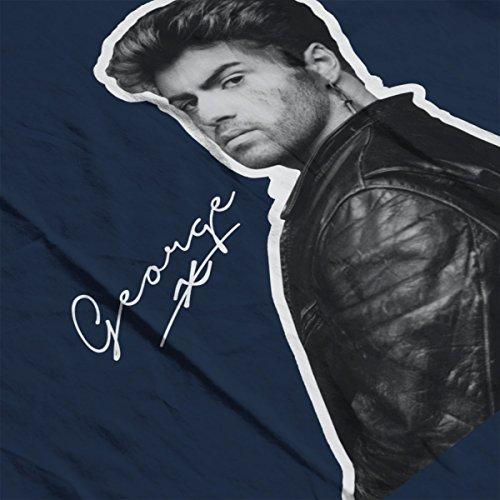George Micheal Signature Men's T-Shirt Navy Blue