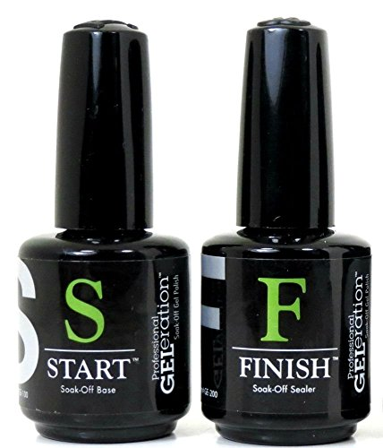 Jessica Geleration Set Kit Base & Top Coat Soak off Start & Finish Lack