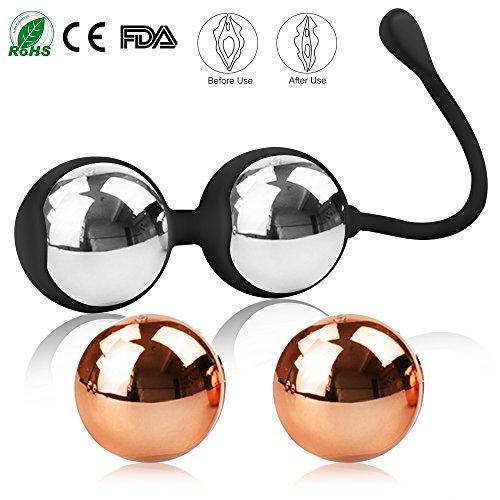 BEQOOL Bolas Chinas Kegel Ball Masaje Vejiga Control Impermeable Silicona Médica Ejercitador Suelo...