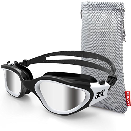 Gafas de natación, ZIONOR G1 Gafas de natación polarizadas con lente de espejo / humo Anti-niebla y Protección UV Estanco para Hombres Unisex Adulto Mujeres Adolescentes