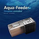 LFF.FF Mini Acquario Alimentatore Acquario Intelligente Sincronizzazione Risparmio Energetico Vari Pesci Vari Mangimi,Black