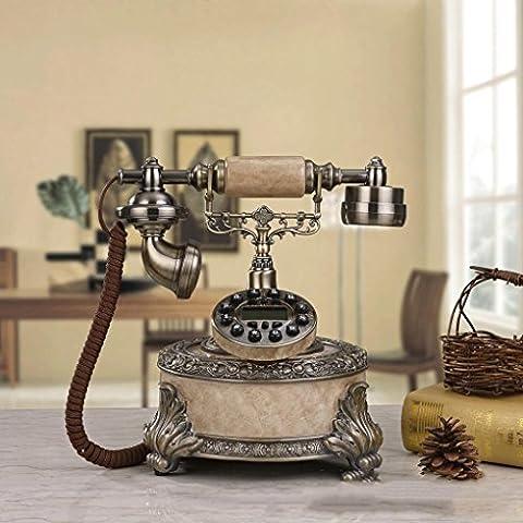 25 * 22 * 26 cm resina creativo complesso radio classica chiamante, ornamenti decorativi di moda telefono rete fissa