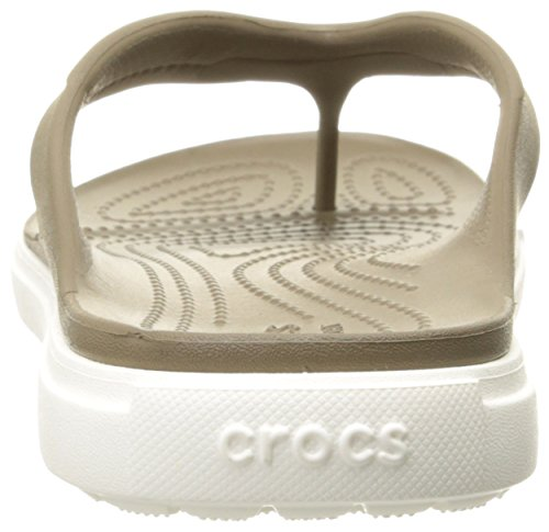 Crocs Citilane Flip Ciabatte, Unisex Adulto Marrone (Walnut/White)