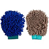#10: Autofy Multi-Purpose Microfibre Cleaning Gloves for All Cars and Bikes (Multicolour, Set of 2)